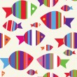 Fishes seamless funny pattern — Stock Vector #11140041