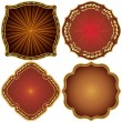 Ornate decorative golden frames. — Stock Vector #11469900