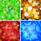 Set of abstract circles seamless pattern. — Vettoriale Stock