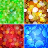 Set of abstract circles seamless pattern. — 图库矢量图片