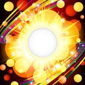 Brightly Explosion Web design. — Stock Vector