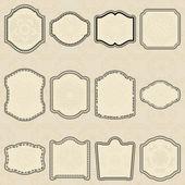 Set of design elements-vintage labels. — Stock Vector