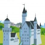 Neuschwanstein Castle — Stock Vector