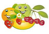 Smiling fruit — Stock Vector
