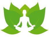 Yoga lotus — Stock Vector