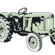 Stock Vector: Older Tracktor
