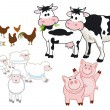 Farm animals — Stock Vector #11323516
