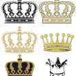Crowns — Stock Vector