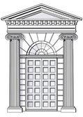 Klassieke ingang — Stockvector