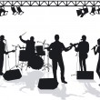 Band on stage — Stock Vector #11457854
