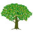Large Apple Tree - Stock Vector