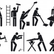 Vector de stock : Craftsmen pictogram