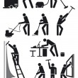 Cleaners pictogram - 图库矢量图片