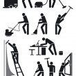 Cleaners pictogram — Stock vektor