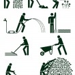 Vector de stock : Gardening pictogram