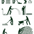 Gardening pictogram — 图库矢量图片