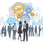 Company in development and movement — Stock Vector #11867127
