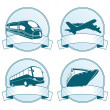 Stock Vector: Passenger Transportation