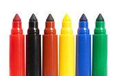 Multicolored Felt-Tip Pens — Stock Photo