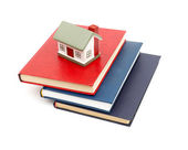Little house and books — Stock Photo