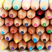 Colored pencils macro, can be used as a background — Stock Photo
