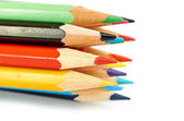 Macro di matite colorate, può essere utilizzata come sfondo — Foto Stock