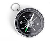 černé kompas izolovaných na bílém pozadí — Stock fotografie