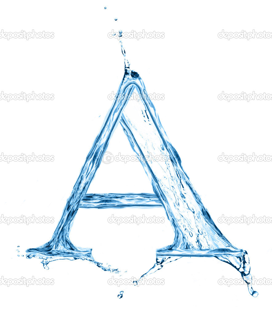 one letter of water alphabet � stock photo 169 merznatalia