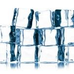 Ice cubes isolated on white — Stock Photo #12147580