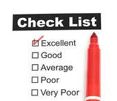 Klíště do vynikající checkbox na zákazníka — Stock fotografie