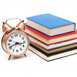 Clock and books — Foto de stock #12243844