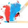 Brush and paint scratch — Stock Photo
