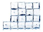 Ice cubes isolated on white — Stock Photo