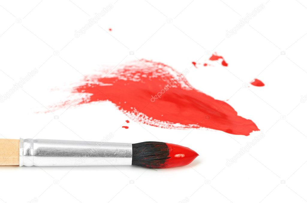 Brush and paint scratch isolated on a white background — Stock Photo #12245486