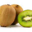 Stock Photo: Kiwi fruit isolated