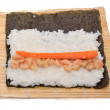 Cooking sushi — Stock Photo