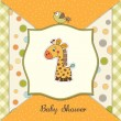New baby announcement card with giraffe — Foto Stock #10756524
