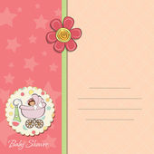 Baby girl announcement card — Stock Photo