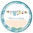 Baby boy shower card — Foto de Stock