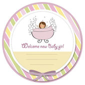 Romantic baby girl shower card — Stock Photo