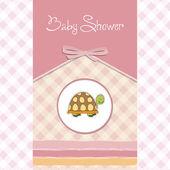 Funny baby sprcha karty — Stock fotografie
