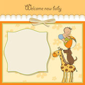 Baby shower card — Stock Photo