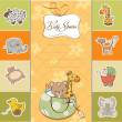 Baby shower card — Foto de Stock