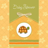 Funny baby shower card — Stock Vector
