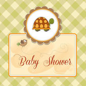 Funny baby shower card — Stock Photo