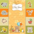 Royalty-Free Stock Vector Image: Baby shower card