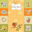 Baby shower card — Stock Vector #11441715