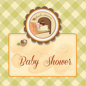 新的宝贝女儿抵达 — 图库矢量图片
