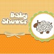 Cute baby shower card with sheep — ストック写真