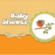 Welcome baby card with funny little bird — Stock Photo #11479167